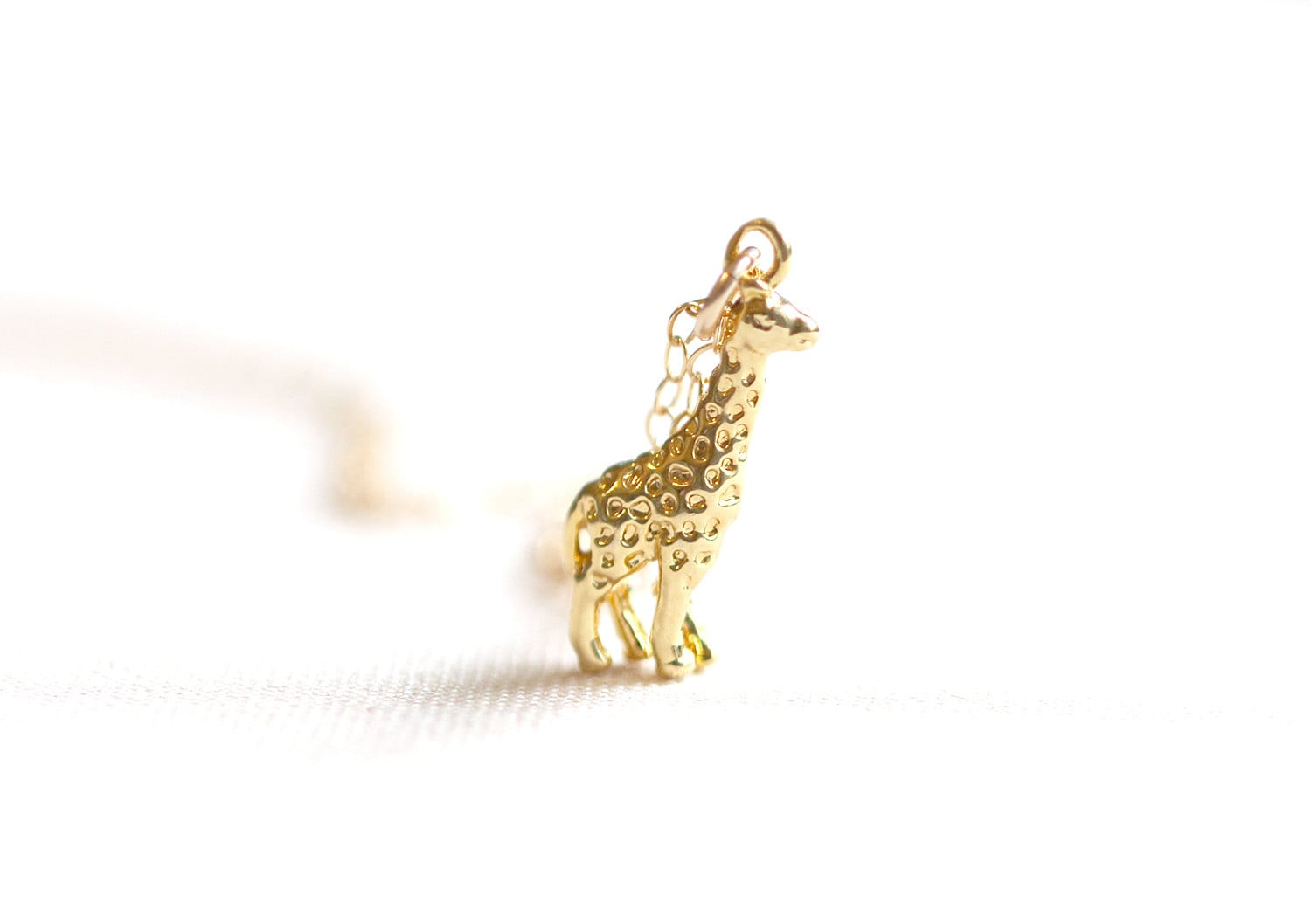 jewelry lyst necklace metallic s sterling women silver in woo pendant giraffe alex