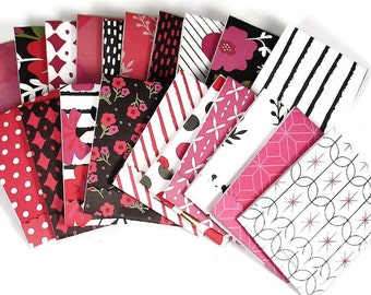 Set of 20 Matchbook Notepads Mini Note Pads in Bella Flora