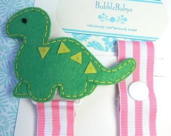 dinosaur pacifier holder dino pacifier clip binky clip baby shower  gift  dino paci clip pacifier  holder