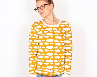 Pullover Wilma//mustard yellow clouds