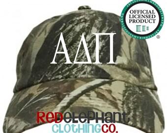 Alpha Delta Pi Hat, Monogrammed Camo Hat, Monogram Baseball Cap, Monogram Camouflage Hat, Personalized Baseball Hat, Sorority Gift, ΑΔΠ