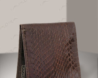 Real Cobra Bi-fold Wallet, Dark Brown - by Implora (#0318)