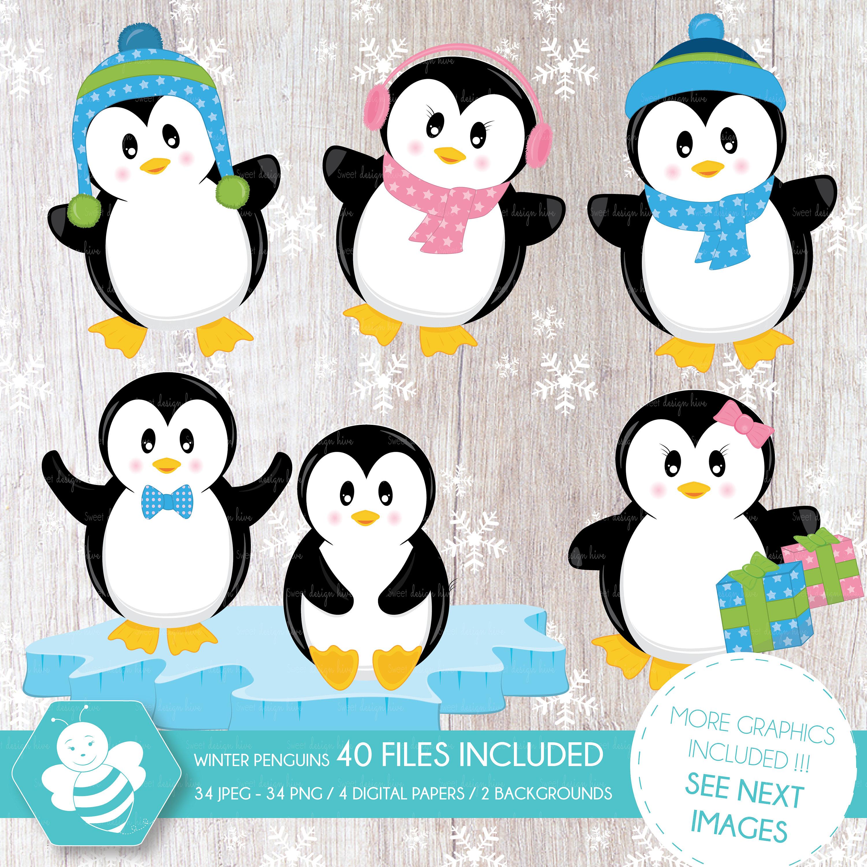 Pinguine Clipart Pinguin Clipart Winter Pinguine Cliparts