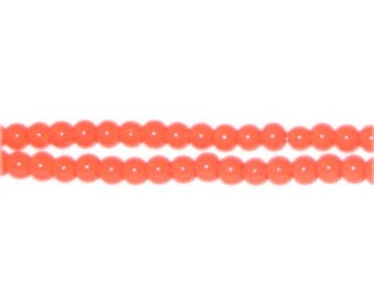 4mm Orange Team and School Glass Bead, approx. 102 beads
