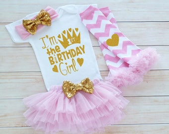 Baby Girl Birthday Shirt, 1st Birthday Girl, First Birthday Girl Shirt, Baby Girl Birthday Announcement, Birthday Bodysuit, Princess Outfit