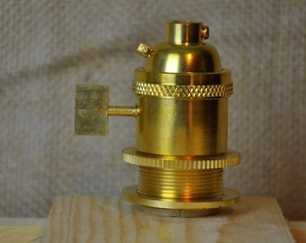 Unfinished Brass UNO Light Bulb Socket UNO Threaded  / Socket For Handmade Lights