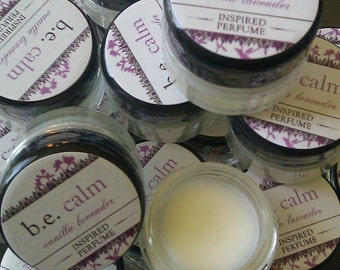 Vanilla Lavender - Perfume Balm, Solid Perfume, b.e. calm, Vegan Perfume