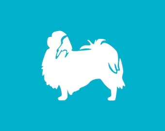 Japanese Chin Car Decal | Dog Breed Sticker | Dog Silhouette | Laptops | Tumblers | Boats | Trucks | I Love My Japanese Chin