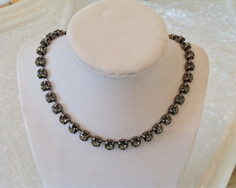8mm swarovski crystal necklace- choker- black diamond- Holiday gift- bracelet and earrings available!  Bridesmaids gift-