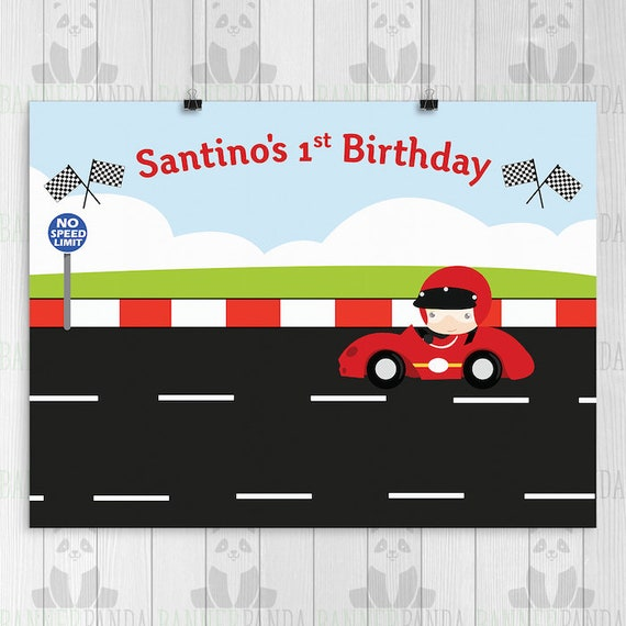 Rennsport-Geburtstag-Hintergrund gedruckt Rennsport