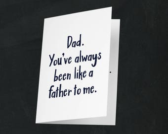 Funny Father's Day Card, Funny Father's Day Ideas, Lame Joke Card, Funny Card for Dad, Father's Day, Dad Jokes, Funny Dad Jokes!
