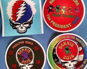 100% for the Resistance! Bernie Grateful Dead Stickers