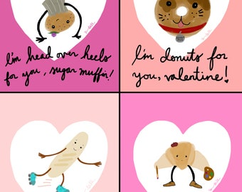 Bread Friends Valentines (Printable File)