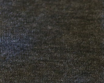 KNIT Fabric: 2-Tone Charcoal Cotton Lycra knit