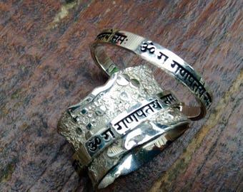 Ganesh Mantra Méditation Ring