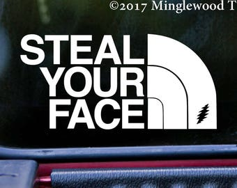 "STEAL YOUR FACE 6"" x 3"" Vinyl Decal Sticker - Grateful Dead North Jerry Garcia  *Free Shipping*"