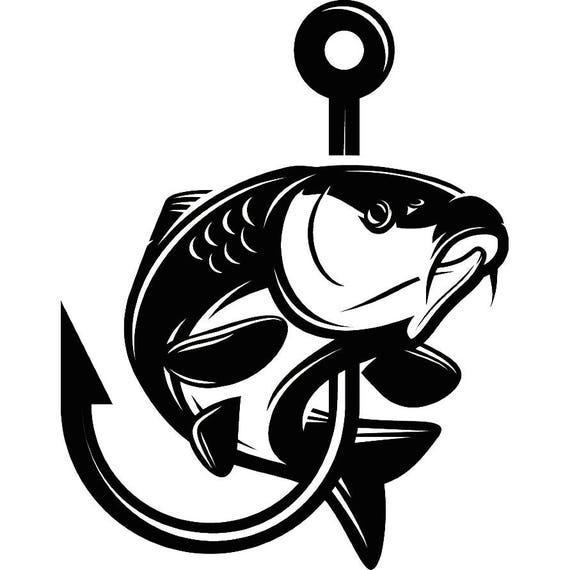 carp fishing 7 logo angling fish hook fresh water hunting rh etsy com carp logo design carp log book
