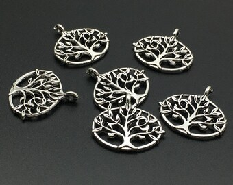 20 pcs Anintique Silver Tree Of Life Pendants  , Tree of Life Charms   ( 27mm x 27mm ) C2019