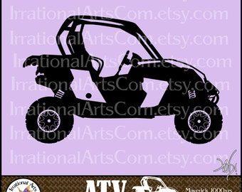 ATV Off-road Vehicle Set 5 - 1 eps & 1 svg Vinyl Ready Image and 1 png clipart Digital graphics files