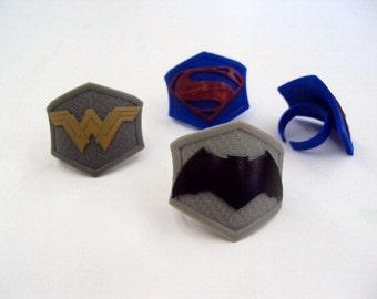 Batman vs Superman Rings