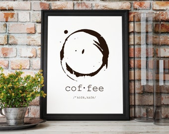 Coffee Print / Coffee Sign / Coffee Decor / Kitchen Art / Art Print / Instant Download / Printable / Store Sign