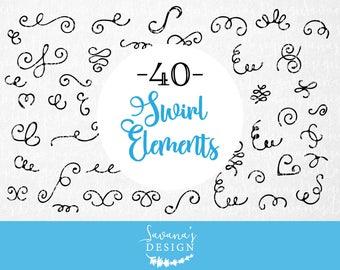 Digital frames and borders, svg borders, handdrawn clipart, doodle svg, border svg, swirl svg, swirl clipart, vector frames, border elements