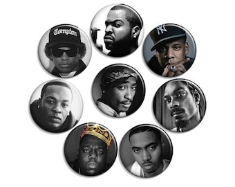 Rap Hiphop 90s - pinback button or magnet 1.5 Inch