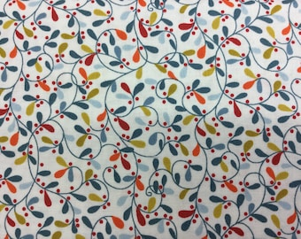 Fabric - Makower - Lila Kitchen Leaves