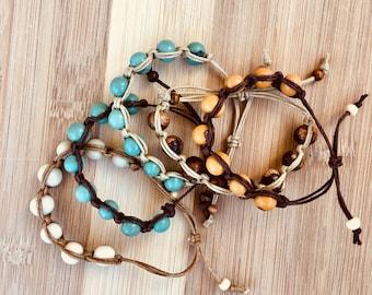 Natural Acai Bead Bracelets, Organic Acai Seeds