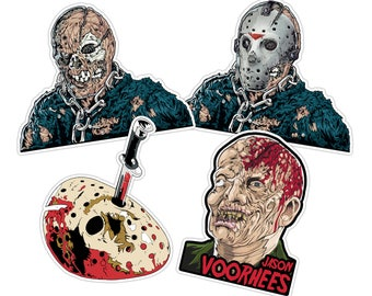 Friday the 13th Jason Voorhees Sticker Pack