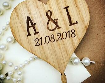 Heart cake topper, wedding cake topper, rustic cake topper, cake topper, wedding topper, barn wedding topper, CT03