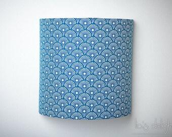 """Applique murale """"Blowballs blue"""", japonisant, géométrique, abat jour, abatjour"""