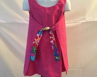 Girls 1960s Vintage Style Reversible Wrap Dress Size 3/4