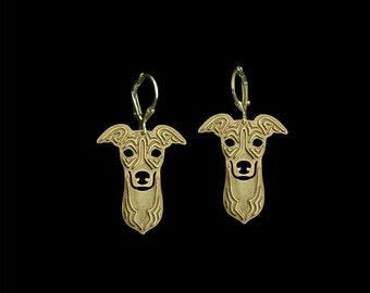 Italian Greyhound earrings - Gold