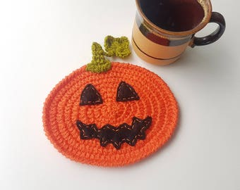 Housewarming gift Halloween gift for coworkers kitchen decor pumpkin decorations decor crochet kitchen pumpkin table decor jack o lantern