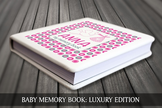 Personalised baby book, Modern baby book, Keepsake baby journal, Personalised baby journal, First year baby book, Baby book,  Baby keepsake