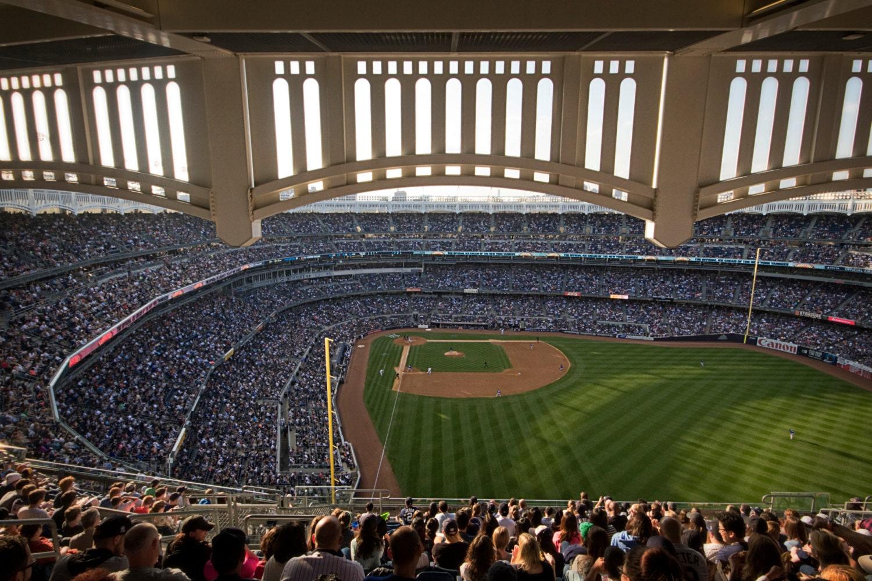 Madison Square Garden: Yankee Stadium Color Photograph New York City Yankees Baseball