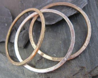 "Gold bangle bracelet ""Cythere"" bronze gold plated, bracelet Handcrafted in France."