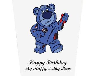 Happy Birthday To My Fluffy Teddy Bear Birthday Card