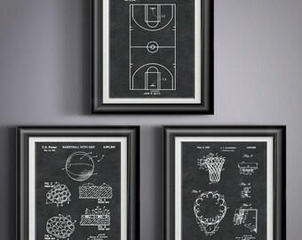 Basketball Chalkboard Art * Black and White Art * Coach Basketball Gifts * Basketball Wall Art * Kids Room Decor Kids Gift Set of 3 PP 2310