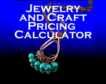 Jewelry and Craft Pricing Calculator - Easy to Use (Excel File)