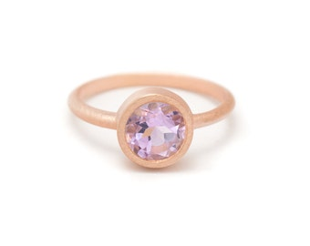 Amethyst in Rose Gold Gemstone Ring - Rose Gold Ring - Gemstone Ring - Sizes 4.5, 5, 5.5, 6, 6.5, 7, 7.5, 8, 8.5, 9, 9.5 and 10
