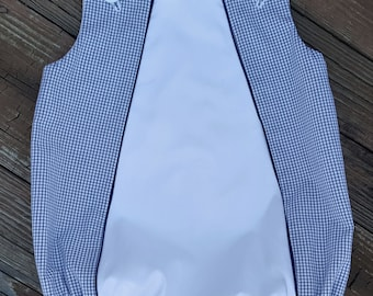 Bubble Windowpane  with White Inset and Piping Choose Your Color