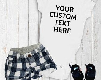 Custom Text Onesie, Baby Onesie, Custom Baby Onesie, Personalized Baby Onesie, Customized Onesie, Unisex Baby Onesie, Baby Clothes