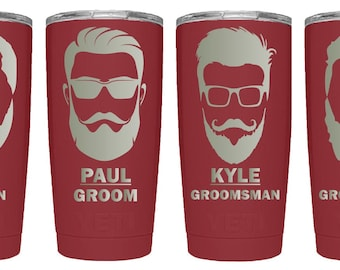 Groomsmen Gifts, Bachelor Party, Wedding Party, Groom, Best Man, Groomsman, Beard, Glasses, Tumbler, Yeti, Polar Camel, Custom Cup