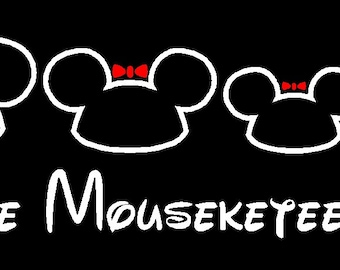 Disney Mouse Ears Family Custom Car Decal Sticker Personalized