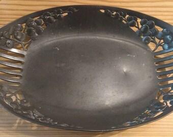 Antique German Orivit Art Nouveau pewter dish