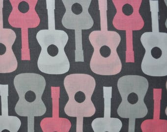 Bloom Groovy Guitar for Michael Miller, 1/2 yard 100% cotton fabric