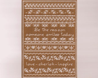 Be the Reason Sampler - Counted Cross Stitch Chart - PDF Instant Download