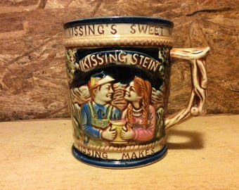 1960's Ceramic Double handled Kissing  Stien